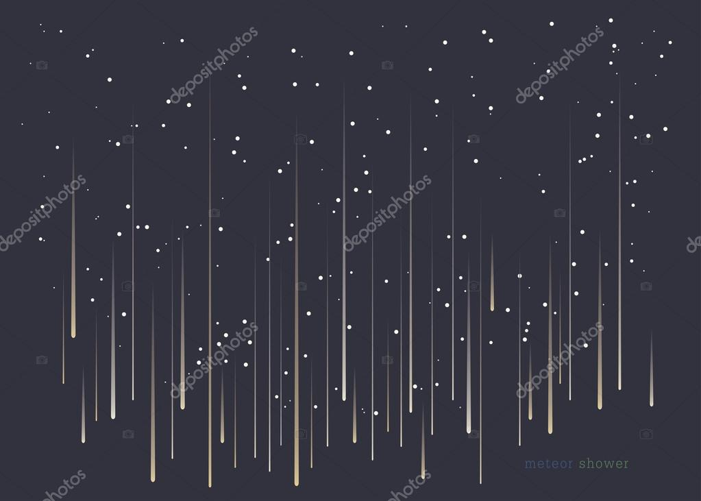 Meteor shower minimal design background