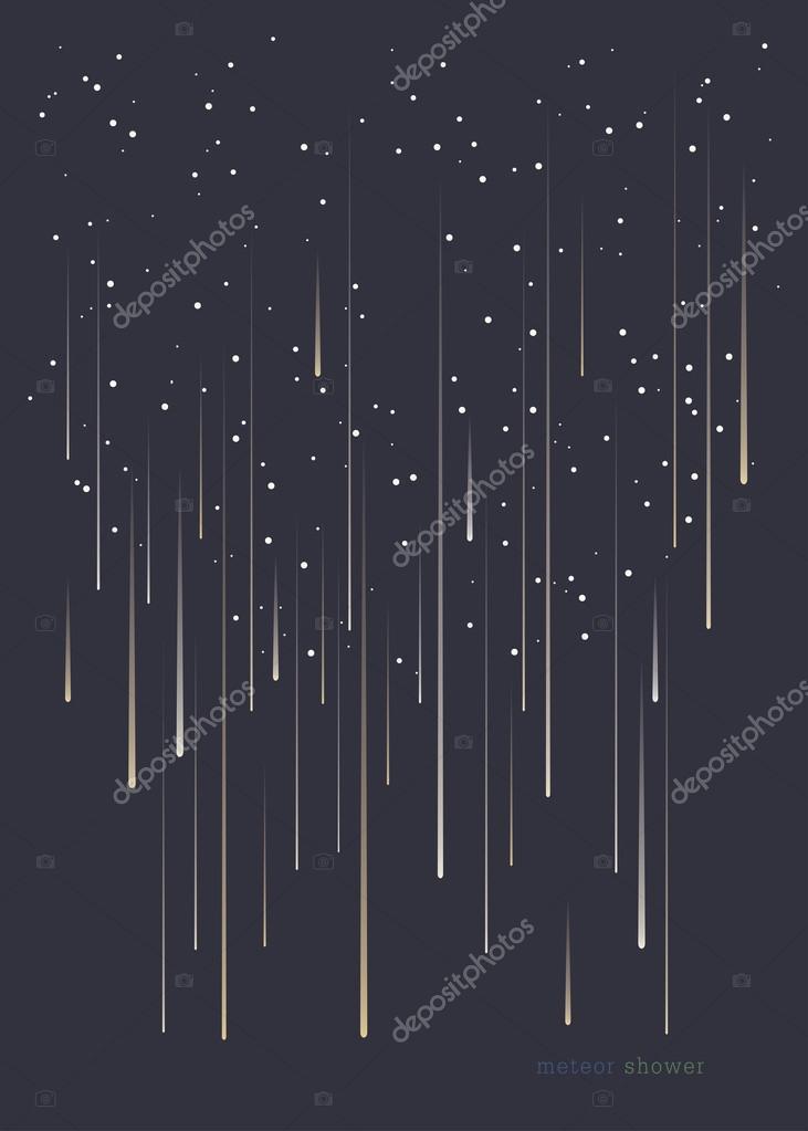 Meteor shower minimal design background