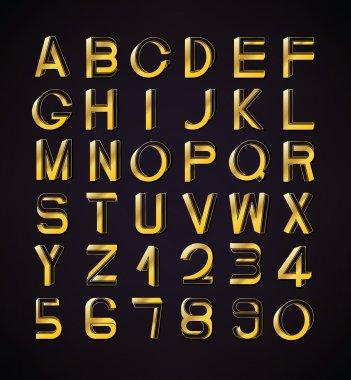 Impossible font set, including numerals