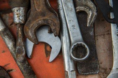 Locksmith's workshop. Instruments