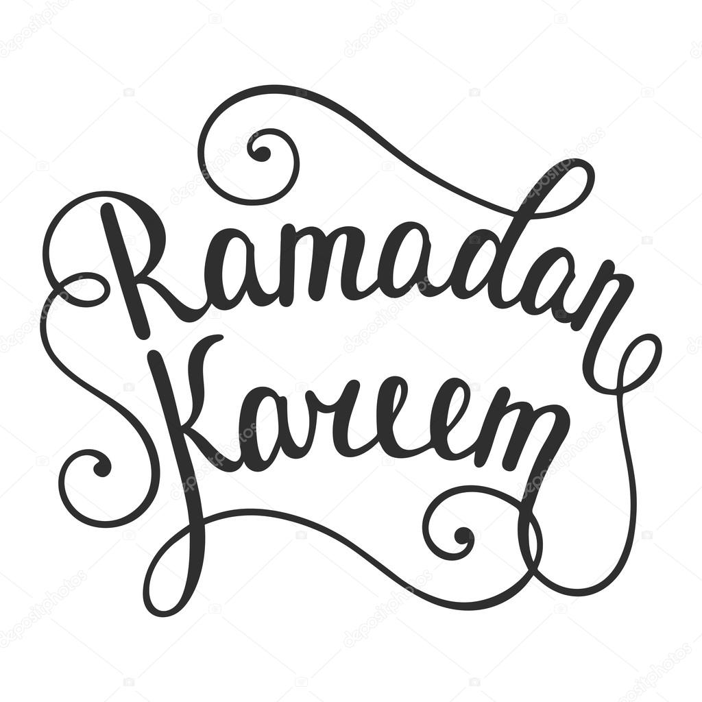 Ramadan Kareem Greeting Card Design Template With Modern Calligraphy