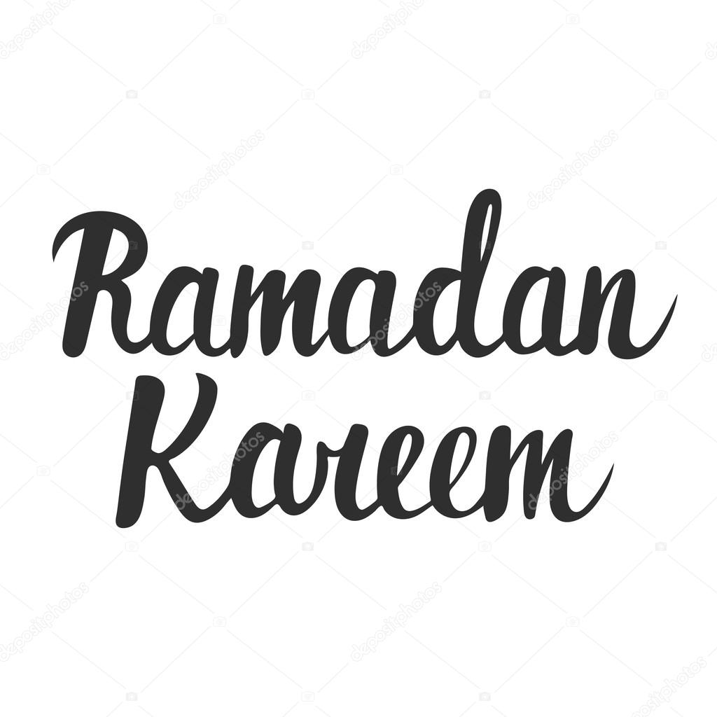 Ramadan Kareem Greeting Card Design Template With Modern Ink Brush