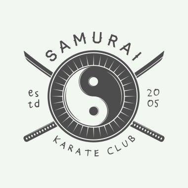 Vintage karate or martial arts logo