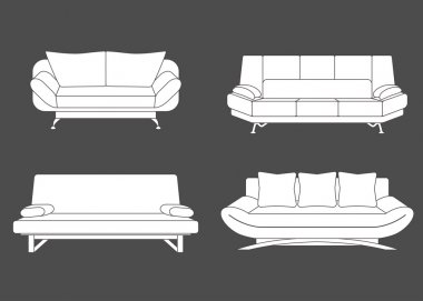 Set of couches and sofas