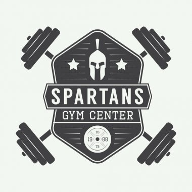 Gym logo in vintage style.