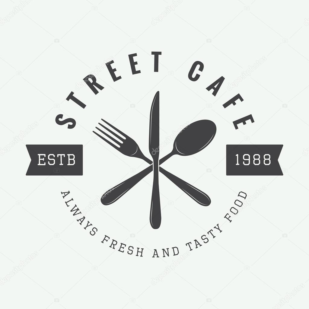 Vintage restaurant logo badge or emblem stock vector vintage restaurant logo badge or emblem vector illustration vector by demalia buycottarizona Image collections