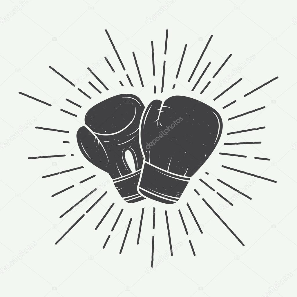 Gants de boxe dans le style vintage image vectorielle de - Gants de boxe vintage ...