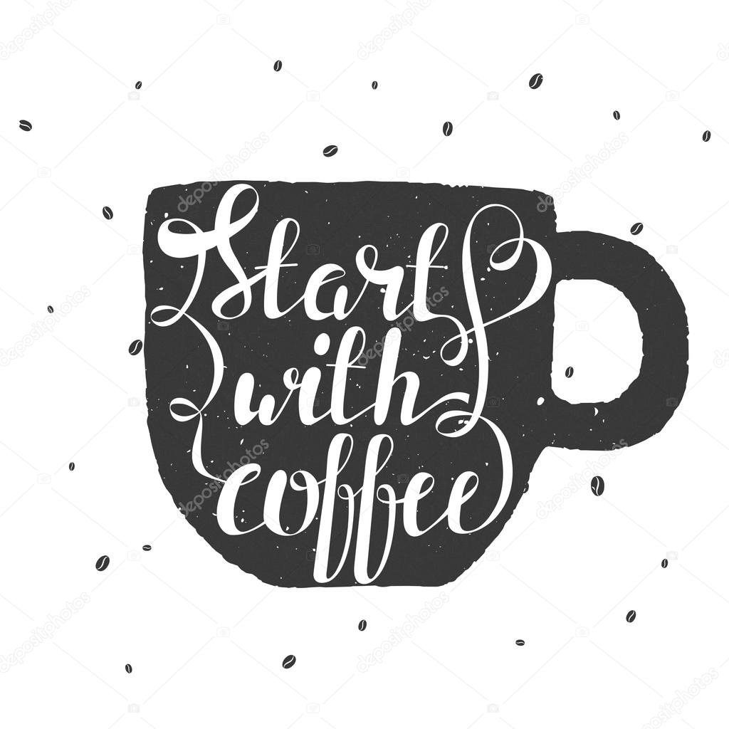 kaffeebohnen gezeichnet
