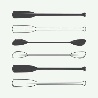 Set of vintage vector paddles.