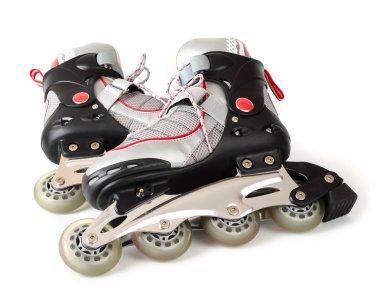 Roller skates on a white background.