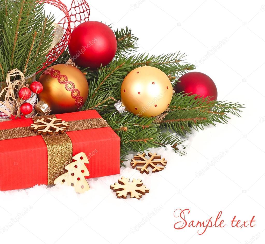 weihnachten komposition mit gold und rot weihnachten. Black Bedroom Furniture Sets. Home Design Ideas