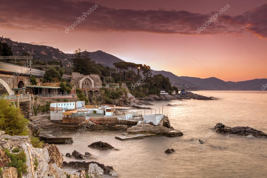 Sunrise in the Italian riviera