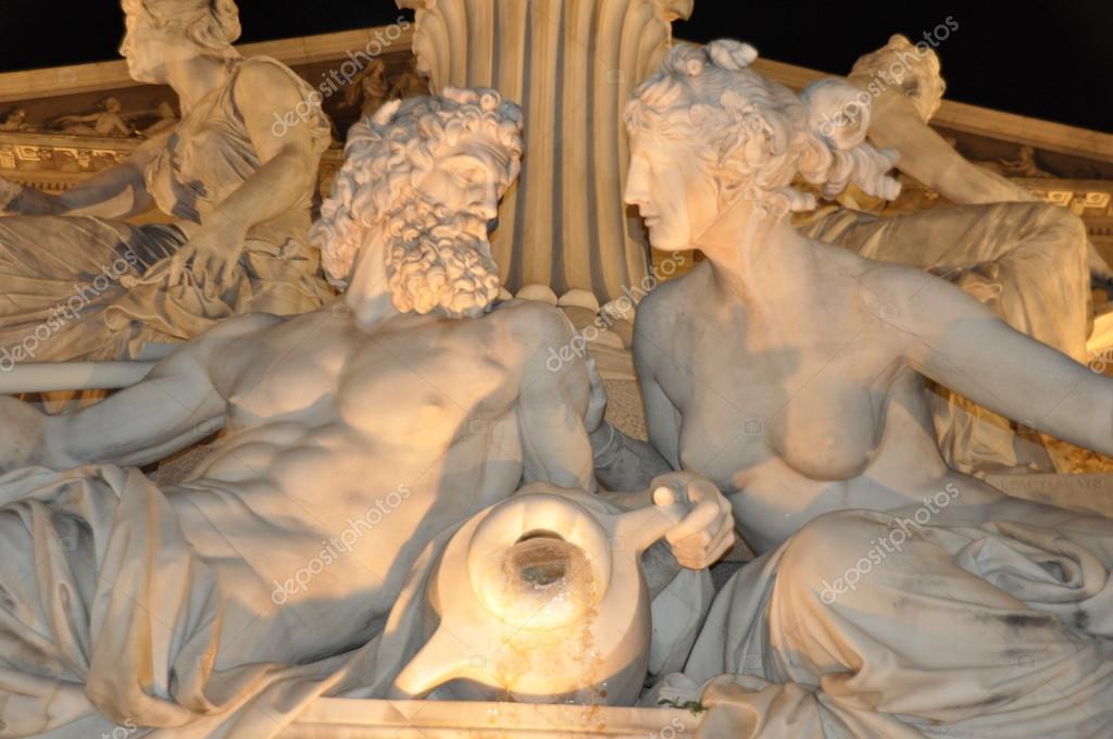 Pallas Athena fountain in Vienna