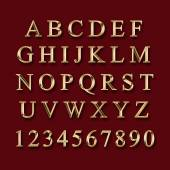 Photo Gold alphabet with numbers