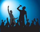 Rock-Silhouetten von Musikern