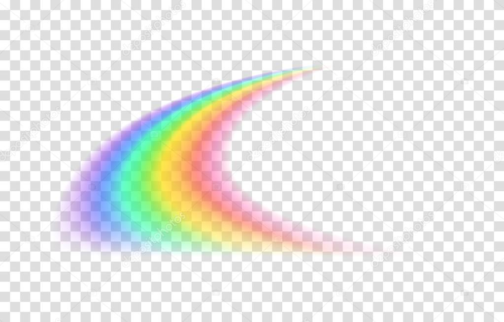 Transparent Rainbow Vector Illustration Realistic Raibow On Background By Nastya Mal