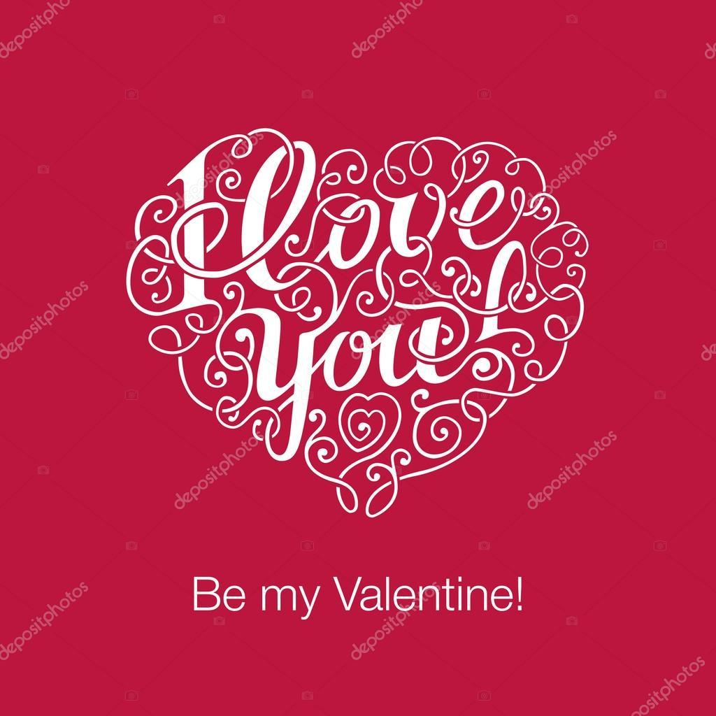 Imágenes Love You Letras I Love You En Forma De Corazón Vector