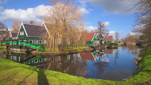 Tradiční vesnice Zaanse Schans, Nizozemsko