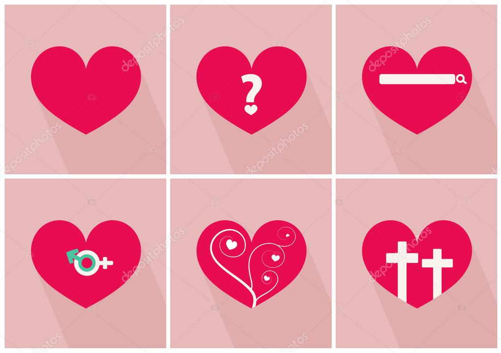 Story of love for valentines day vector illustrations — Stock ...