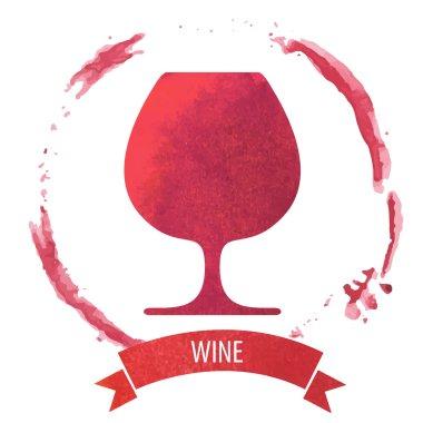 Wine stain circle