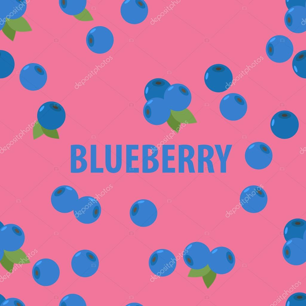 seamless pattern of  blueberry