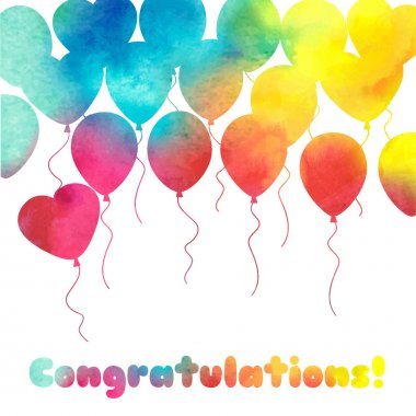 Celebration festive background with balloons.Perfect for invitat