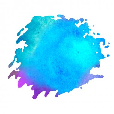 Colorful watercolor stain with aquarelle paint blotch