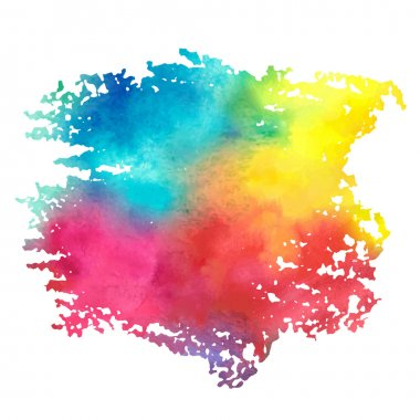 Colorful watercolor stain with aquarelle paint blotch stock vector