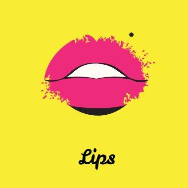 Print of lips. Vector illustration
