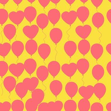 Retro flat balloons pattern. Great for Birthday, wedding, annive