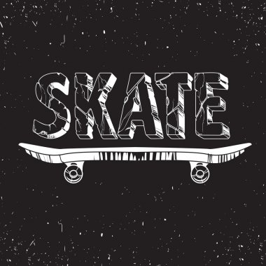 Skate board typography t-shirt graphics,sport,vectors and seamless pattern stock vector