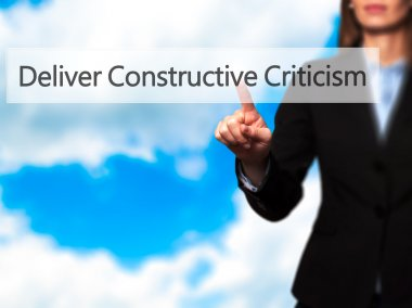 Deliver Constructive Criticism - Business woman point finger on