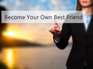 Become Your Own Best Friend - Successful businesswoman making us