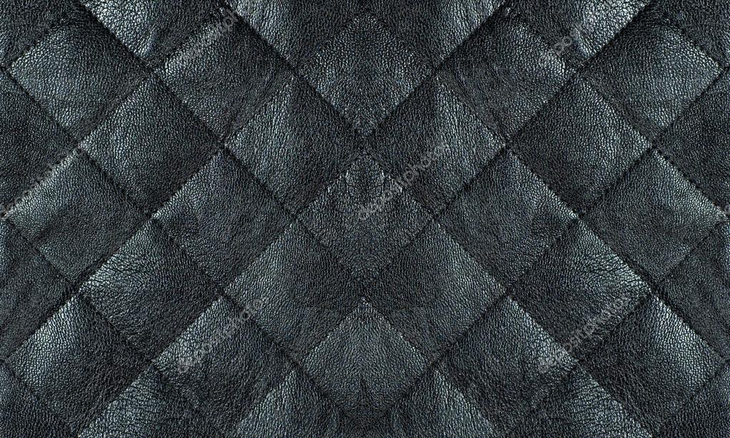 Black quilted leather fabric close up, abstract background — Stock ... : quilted leather material - Adamdwight.com