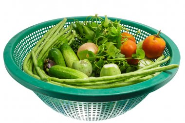 Vegtables in a Bowl,lentils,tomatoes,cucumbers,Centella asiatica,Niang,eggplant,Onion,pepper