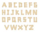 Ručně tažené dřevěná abeceda