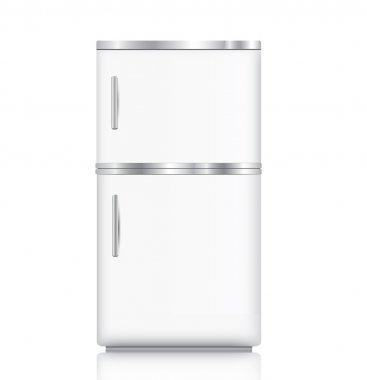 Modern White fridge