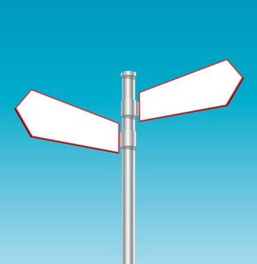 Blan road sign