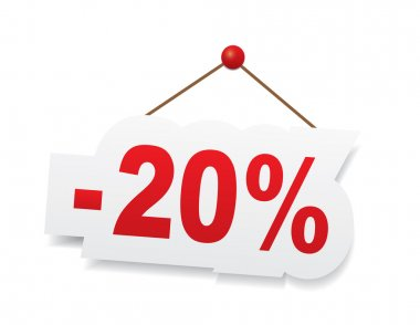Red 20 percent off