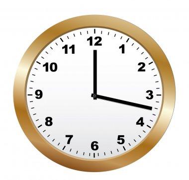 Round classic clock