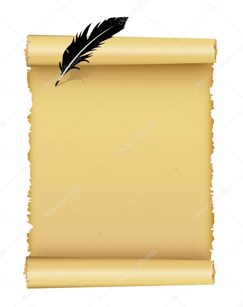 papier rolle und feder stockvektor sulfoxid 60892833. Black Bedroom Furniture Sets. Home Design Ideas