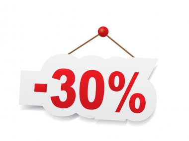 Red 30 percent off