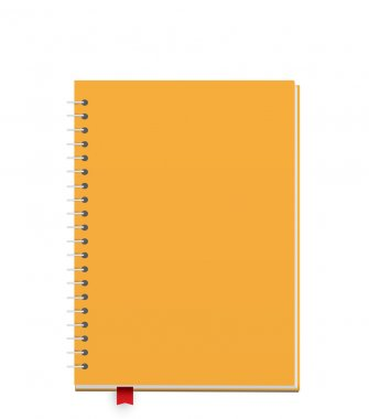 Blank yellow Notebook