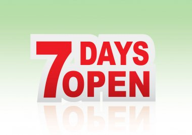 7 days open sign