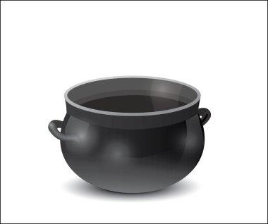 Black empty pot