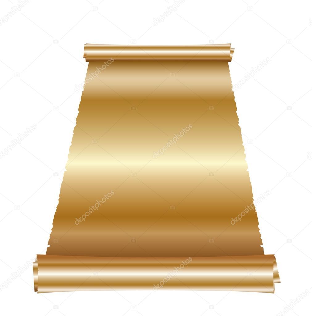 Antique golden scroll