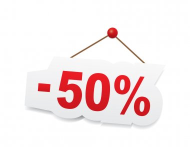 Red 50 percent off