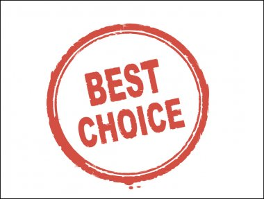 Best Choice stamp on white background clip art vector