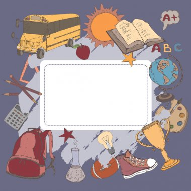 Color template for a card, diary, notebook, school related project.