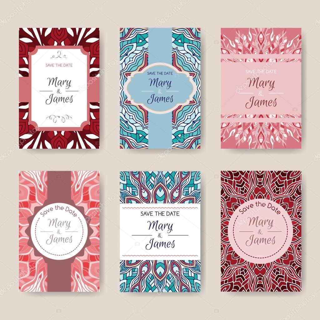 Conjunto de plantillas de tarjeta de brillantes con estampados ...